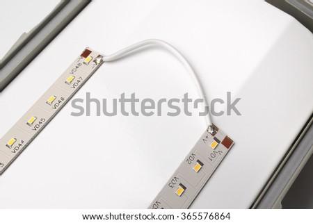 Led lamp,  light-emitting diodes - stock photo
