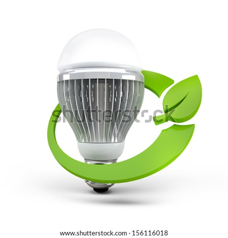 led lamp save the environment - stock photo