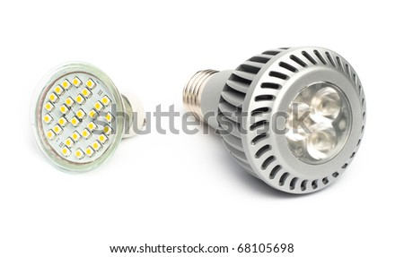 lED lamps - stock photo