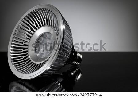LED light bulb, close-up - stock photo