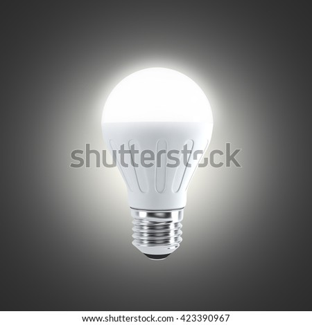 LED light bulb on a dark bakground (3d render)
