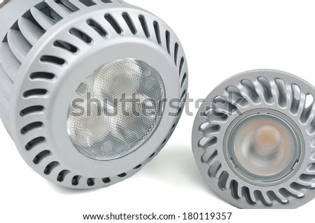 led light bulb on the white background