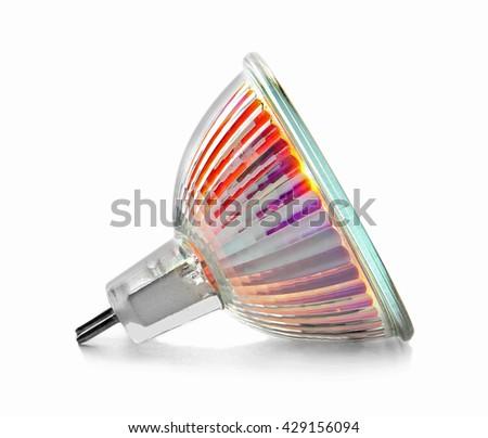 Led light bulb on white background - stock photo