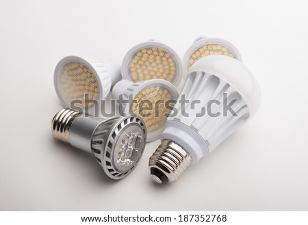 LED light bulbs - stock photo
