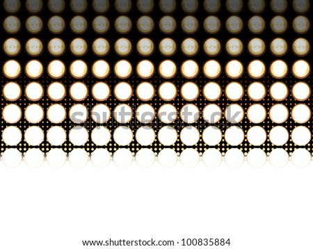 Led light diodes, photographed at different exposures to make the detail appear. In the background is a halftone effect, that fades in the same colors. - stock photo