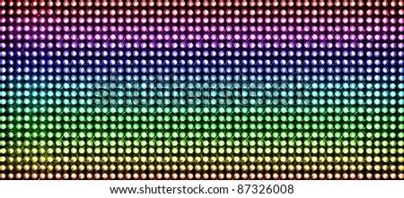 led  lighting bulb pattern - stock photo