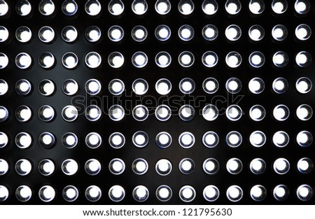 LED lighting diodes on black background - stock photo