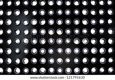 LED lighting diodes on black background - stock photo