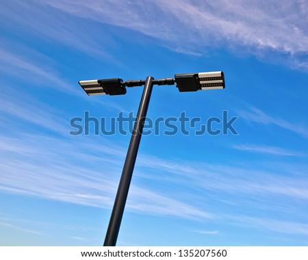 led lighting pole - stock photo