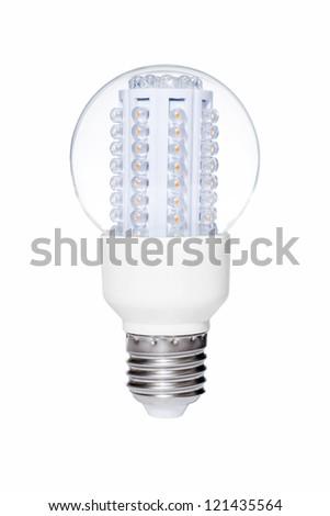 LED lights bulb isolated of white background - stock photo