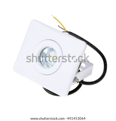 LED spot light for office on white background