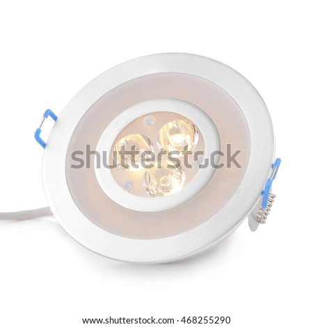 LED spot light on white background