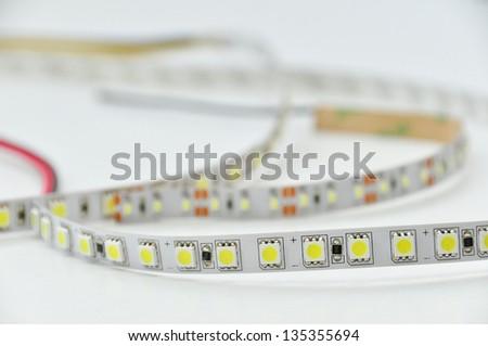 LED strips light - stock photo