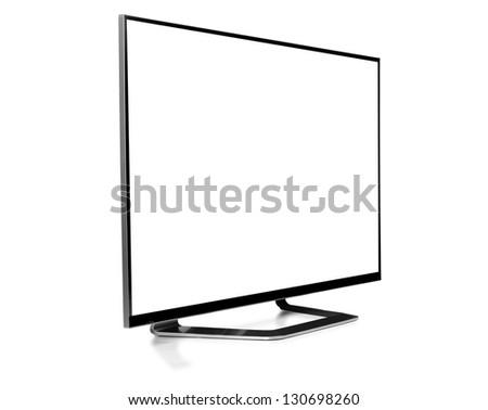 Led Tv. against white background. - stock photo