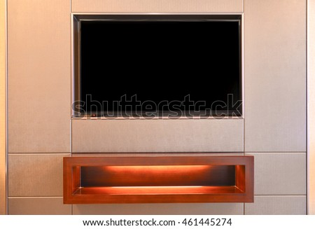 LED TV in the wall in living room