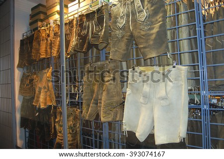 Lederhosen Clothing - Munich - Germany