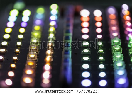 LEDs light moudule with pastele light