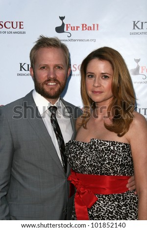 Lee Kirk and Jenna Fischer at the 3rd Annual Fur Ball at the Skirball, benefitting Kitten Rescue of Los Angeles, Skirball Cultural Center, Los Angeles, A. 09-11-10