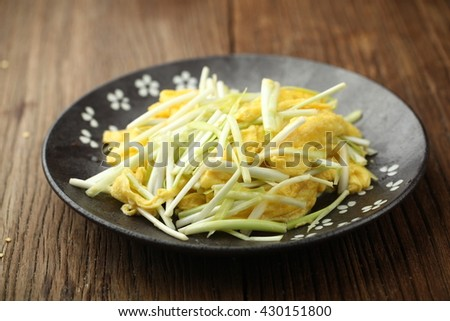 leek fried eggs