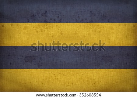Leeuwarden, the capital of the province of Friesland flag pattern on fabric texture,retro vintage style - stock photo