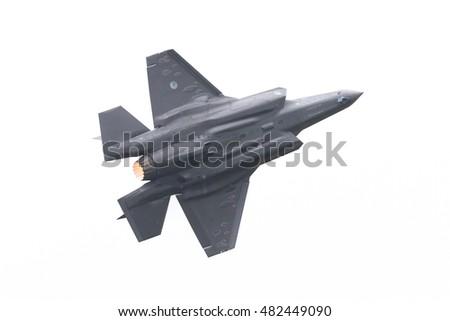 F 35 Lightning Ii Thunderbirds LEEUWARDEN, THE NETHERLANDS - JUNE 11, 2016: F-35 Lightning II flyby ...