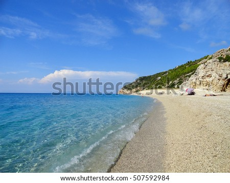 lefkada island greece milos beach sea landscape