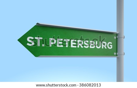 left direction road sign st. petersburg
