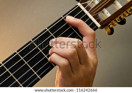 Left Hand Position Basic Chord Classic Stock Photo Royalty Free