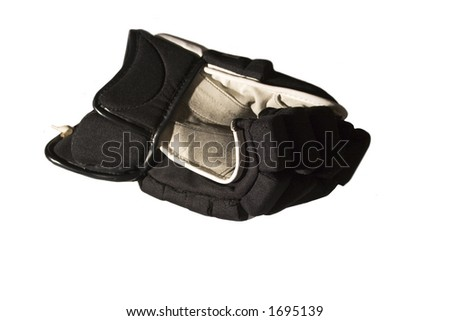 Left hockey glove