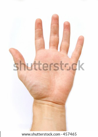 left or right hand - stock photo
