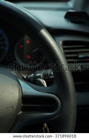 Left side steering wheel