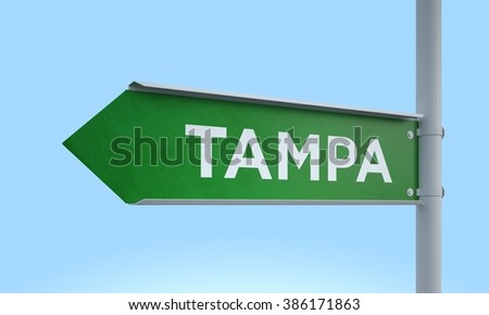left way sign tampa