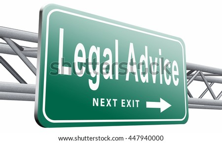 legal advice or information from lawyer advisor when going to trial, 3D illustration isolated on white background.  - stock photo