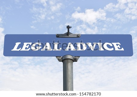 Legal advice road sign - stock photo