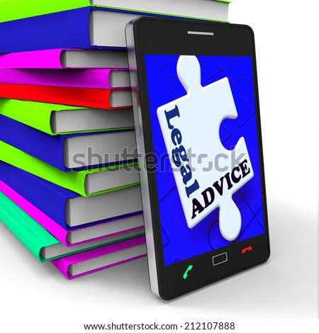 Legal Advice Smartphone Meaning Lawyer Assistance Internet - stock photo