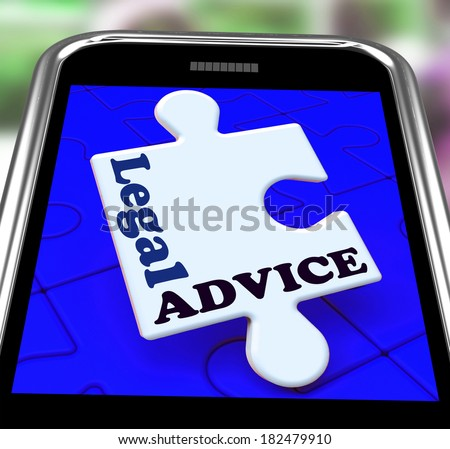 Legal Advice Smartphone Meaning Lawyer Assistance Online - stock photo