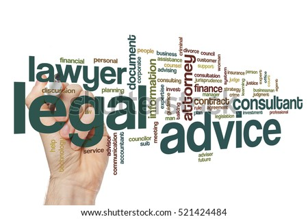 Legal advice word cloud concept