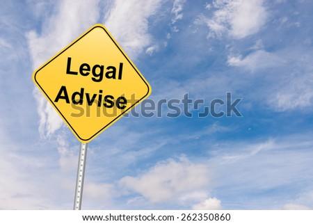 Legal Advise message - stock photo