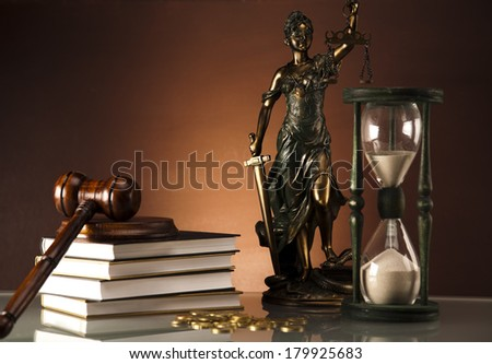 Legal code and scale of justice, Law, Statue of Lady Justice