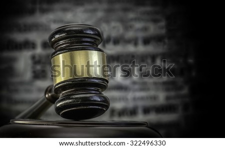 Legal crime law headlines concept image - stock photo