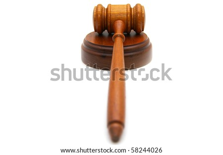 legal gavel on white