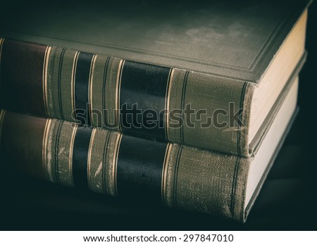 Legal law books - stock photo