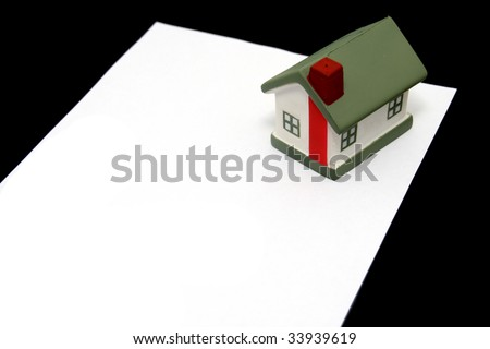 legal lease agreement document - stock photo