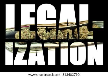 Legal Marijuana and Cannabis, Legalization  - stock photo