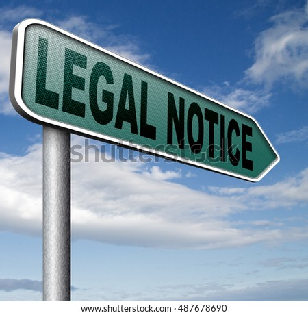 legal notice with terms and conditions for use 3D, illustration