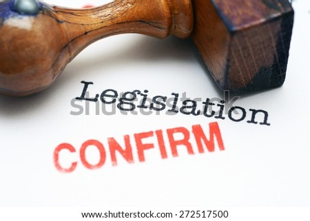 Legislation - confirm - stock photo