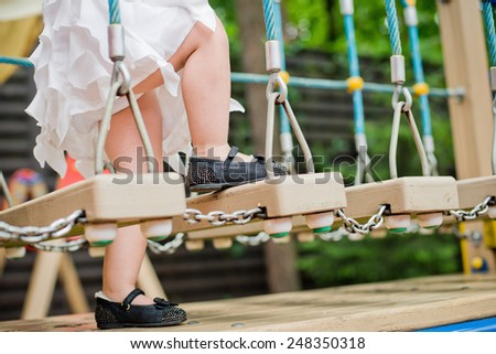 legs a little girl - stock photo