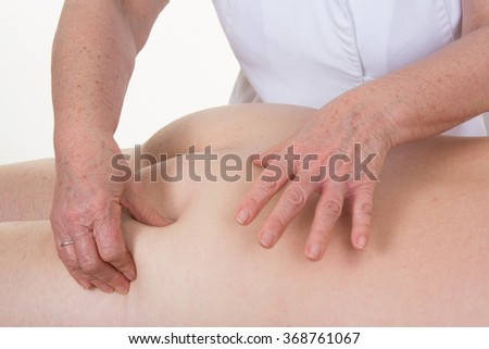 Legs and buttocks man massage to reduce cellulite