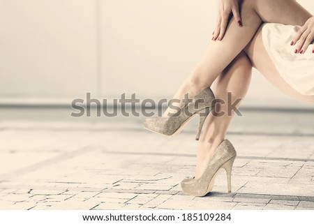 legs and woman  - stock photo