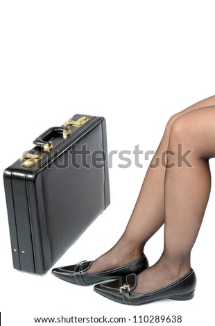 Legs of a young woman resting - stock photo